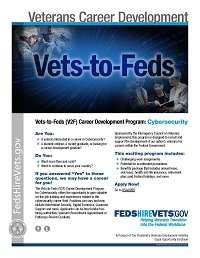Vets-to-Feds Career Development Program: Cybersecurity