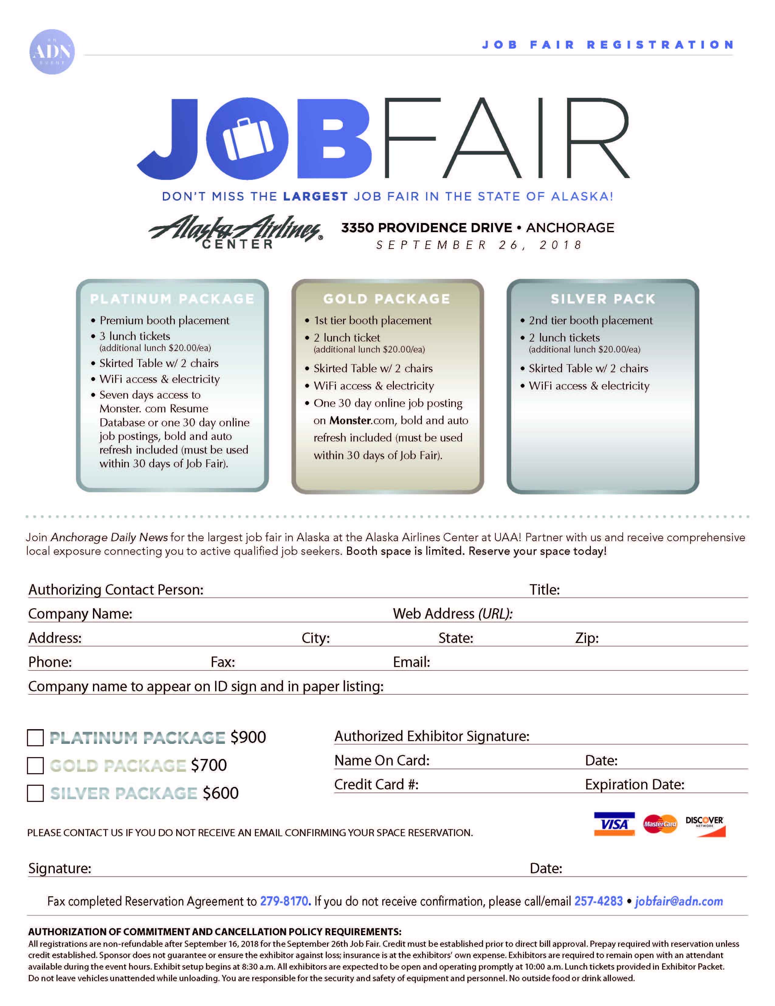 Alaska Airlines Center Job Fair