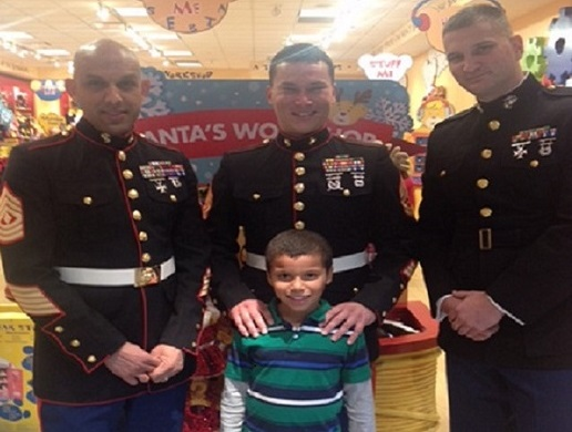 VESO's Gilbert Stubbs at 2014 Toys for Tots Drive