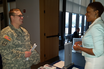 VESO attends Ft. Belvoir's Operation Warfighter Internship Fair to assist transitioning military service members find internships in the VA.