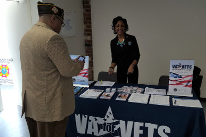 VESO in partnership with the DC Department of the Veterans of Foreign Wars attend Hiring Our Heroes event to service Veterans.