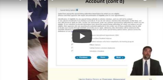Finding and Applying for Jobs in the Federal Government Video