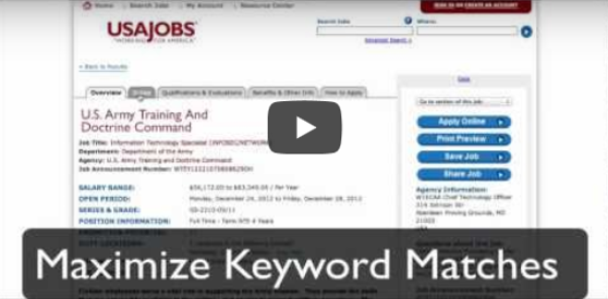 Three Steps to Get Referred to the Selecting Official for Government Jobs using USAJOBS Video
